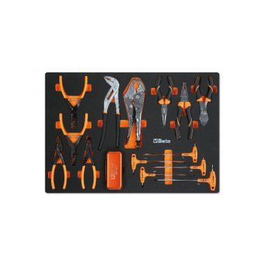 BETA MM140 Habszivacs tálca fogó, csípőfogó és hajlított Torx® imbuszkulcs készlettel