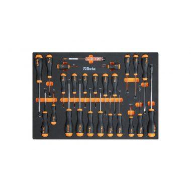 BETA MM210 Habszivacs tálca BetaEasy csavarhúzókkal hasított fejű Phillips® és Torx® csavarokhoz