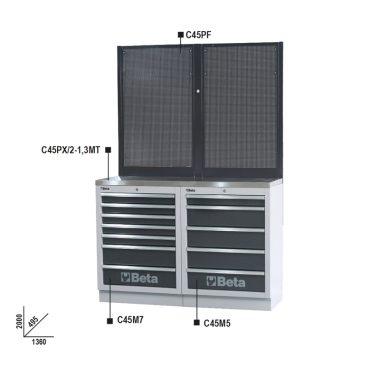 BETA C45/BPX-1,3  Munkapadok C45/BPX-1,3 műhelyberendezés összeállításhoz