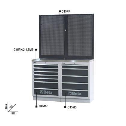 C45/BPX-1,3 Munkapadok C45/BPX-1,3 műhelyberendezés összeállításhoz