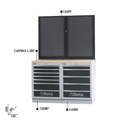 C45/BPW-1,3 Munkapadok C45/BPX-1,3 műhelyberendezés összeállításhoz