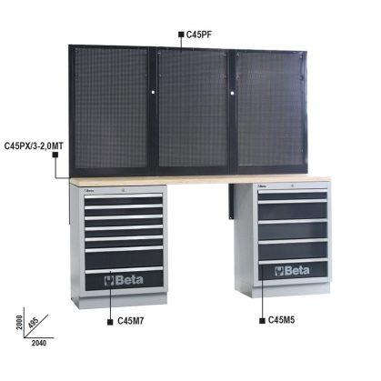 C45/BPW-2,0  Munkapadok C45/BPW-2,0 műhelyberendezés összeállításhoz