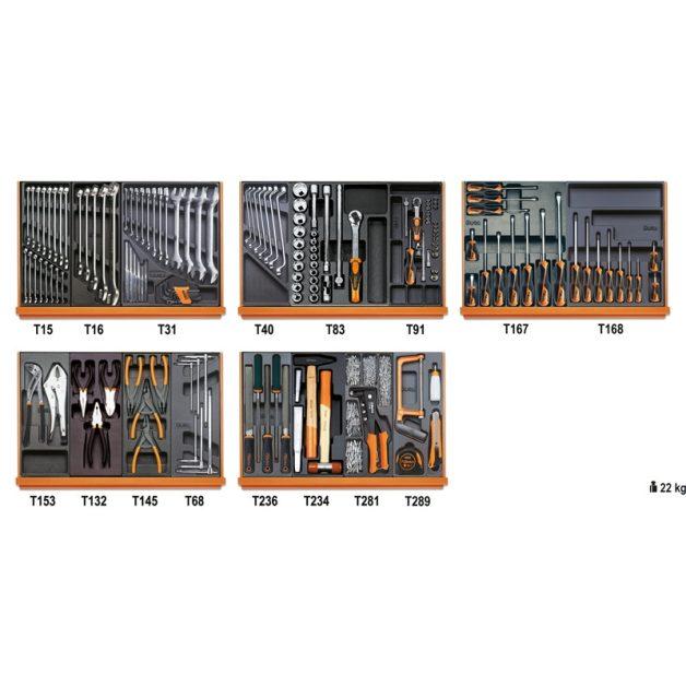 5904VI/2T 153 darabos szerszámkészlet hőformált tálcában