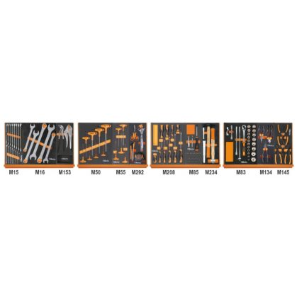 5904VG/3M 130 darabos szerszámkészlet lágy habszivacs tálcában
