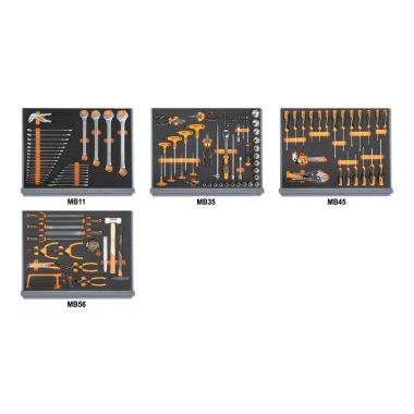 5935VU/1MB 154 darabos szerszámkészlet a C35 szerszámkocsihoz, lágy hőformált tálcában