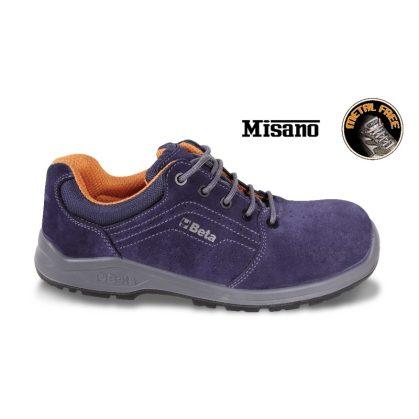 7210PB perforált hasítottbőr cipő