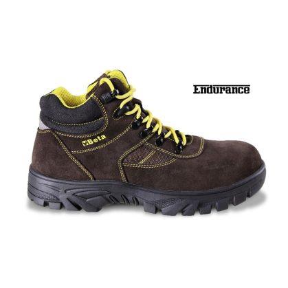 7237WR Hasítottbőr bokacipő nylon betétekkel, nagyellenállású gumitalp és gyorskioldás Vízálló WR cipő