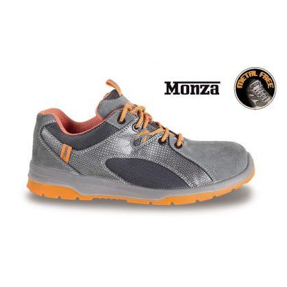 7313G hasítottbőr cipő, nylon mesh és PU betétekkel