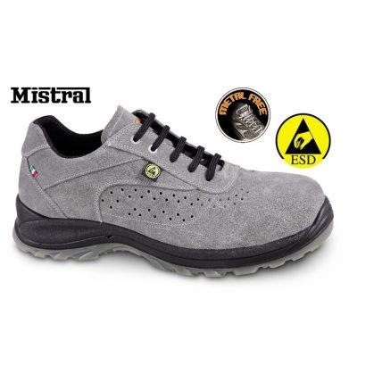 7319ESD perforált hasítottbőr cipő, ESD