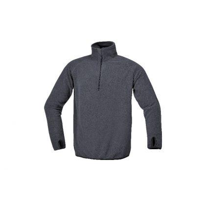 7635G S Mikropolár pulóver rövid cipzárral