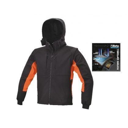 7683 Softshell-dzseki, levehető kapucni és ujjak