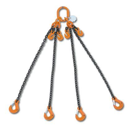 8098 rögzítő emelőheveder közelítő horgokkal 4 karos lánc, táskában