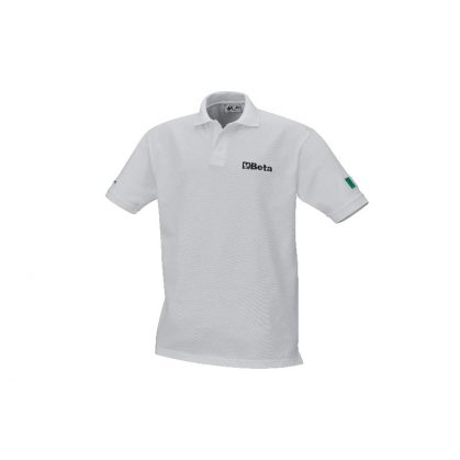 9534W Háromgombos pólóing kártolt pamut piké 200 gramm, fehér