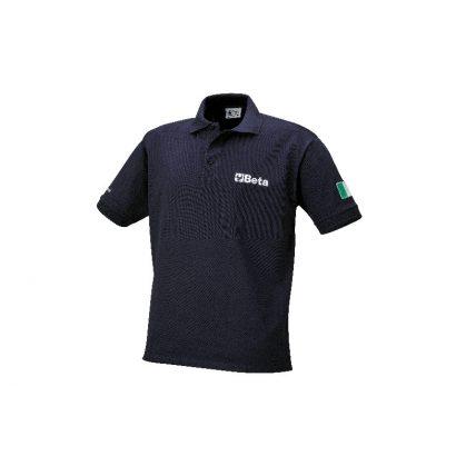 9534B Háromgombos pólóing, kártolt pamut piké 200 gramm, kék