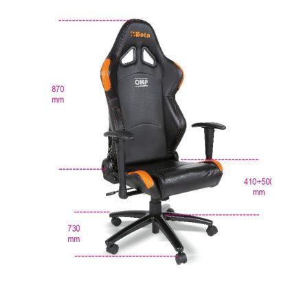 9563P Irodai fotel kartámasszal, fekete