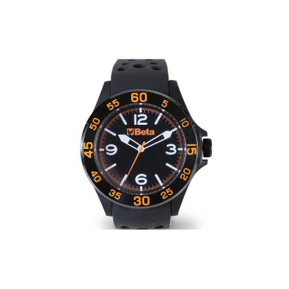 9593W Analóg óra, soft touch műanyag ház acélgyűrűvel, vízálló 3 ATM, szilikon szíj