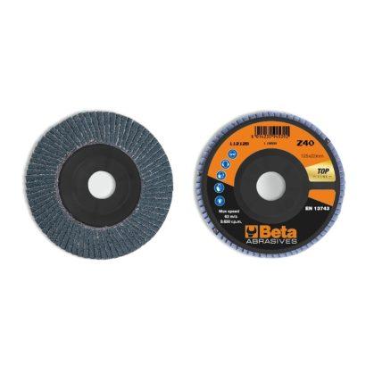 BETA 11212B Csiszolótárcsák cirkónium csiszolóvászonnal, műanyag csiszolótalp, egylamellás kivitel