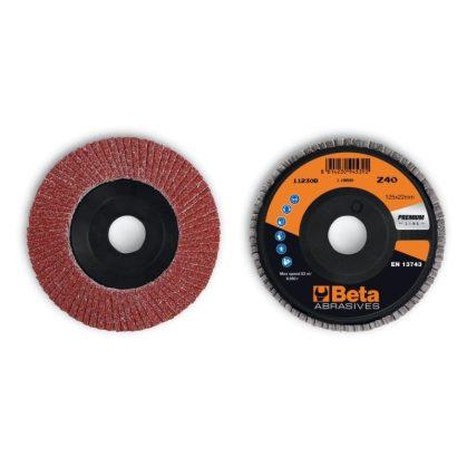 BETA 11230B Csiszolótárcsák korund csiszolóvászonnal, műanyag csiszolótalp, egylamellás kivitel